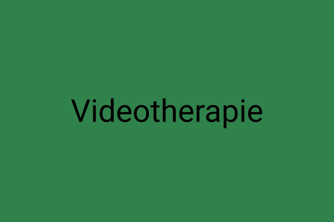 Videotherapie Ergotherapie